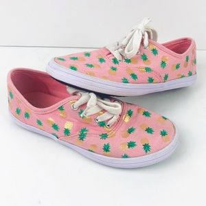 American Eagle Pink Gold Pineapple Shoes Size 1